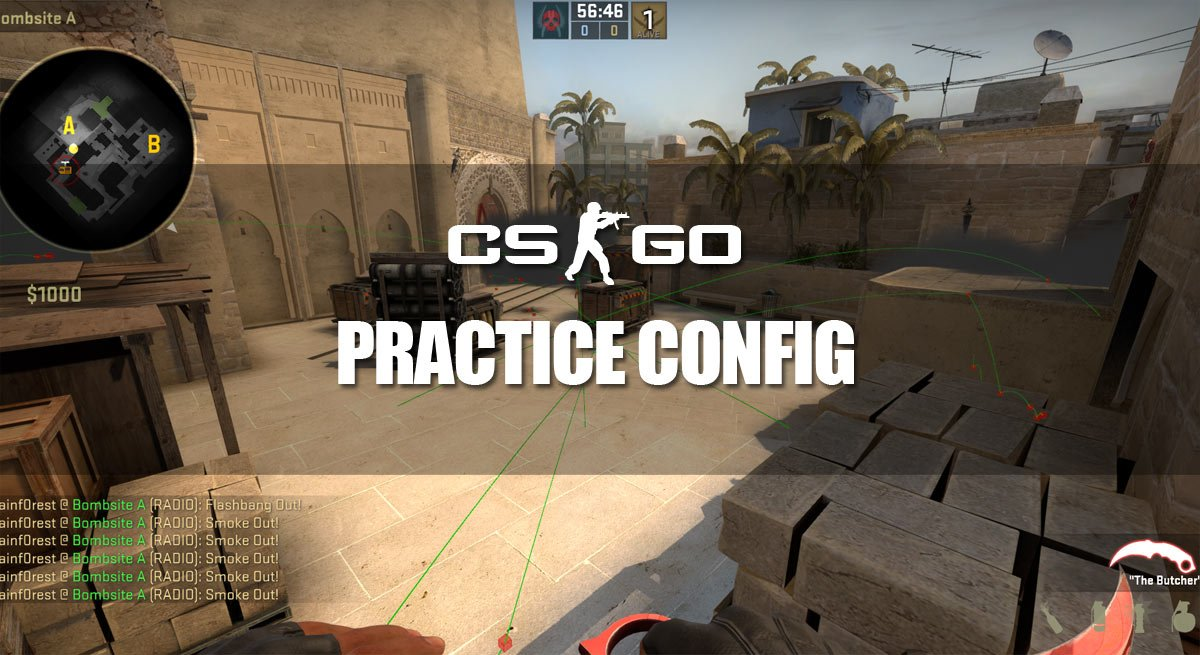 CS:GO Practice Config - Cfg, Bots, Show Trajectory & Impacts