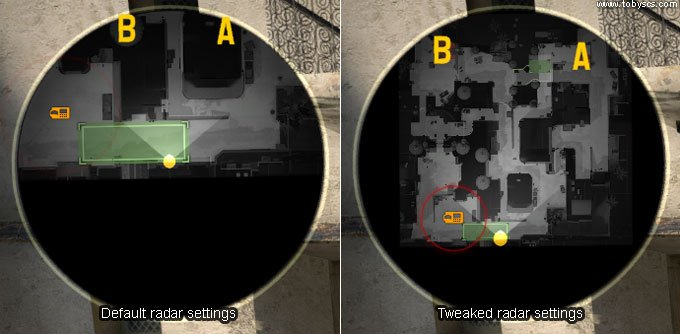 CS:GO Tweaking radar settings
