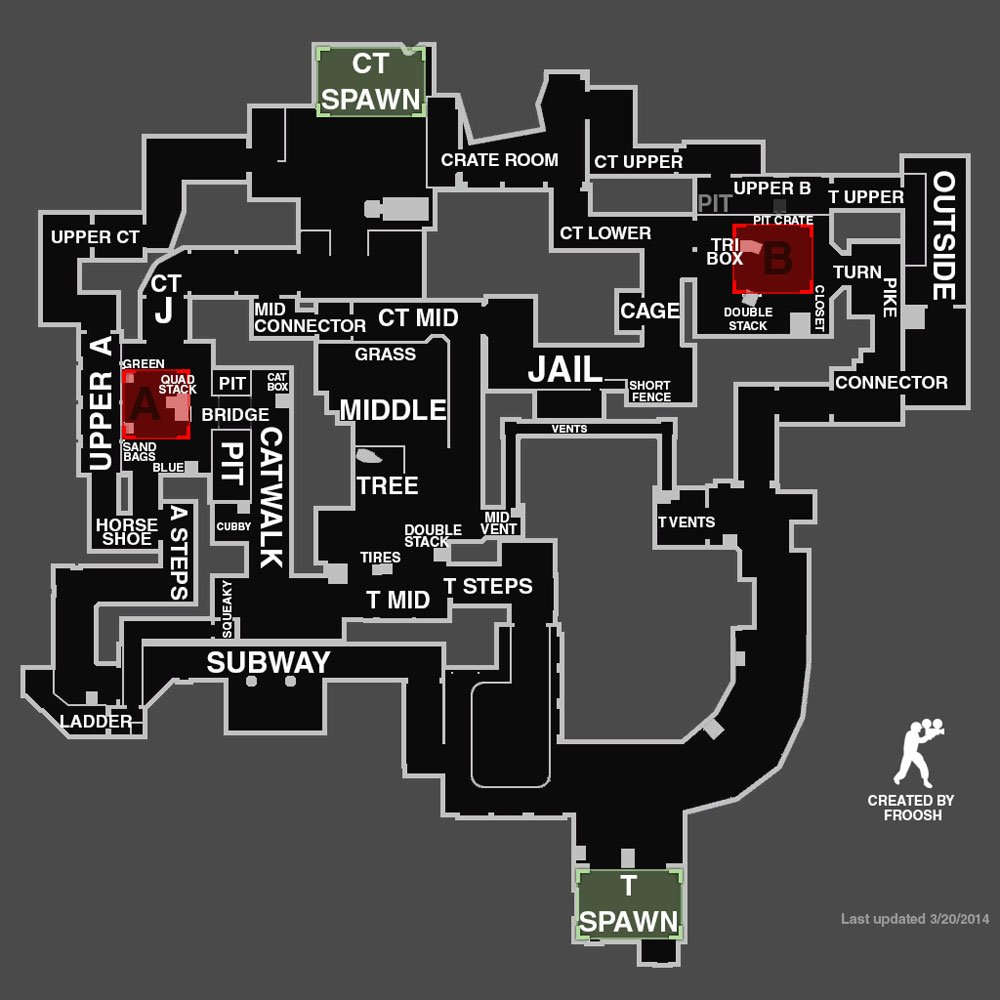 Cs Go All Map Callouts Overviews For Competitive Maps 2019