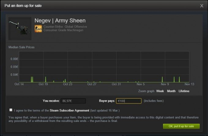 Calculate Steam Market Fees/Tax on CS:GO Items