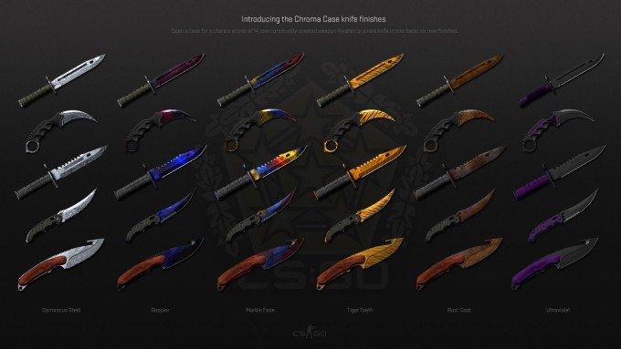 Chroma Case Knives in CS:GO