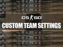 CS:GO Custom Team Name, Logo and Flag
