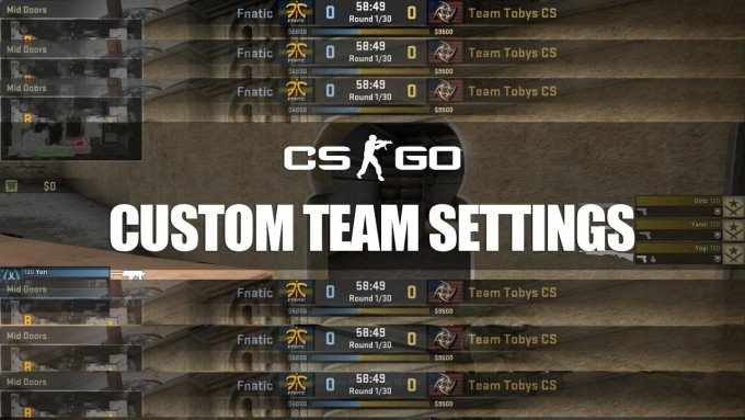 CS:GO Custom Team Name, Logo and Flag