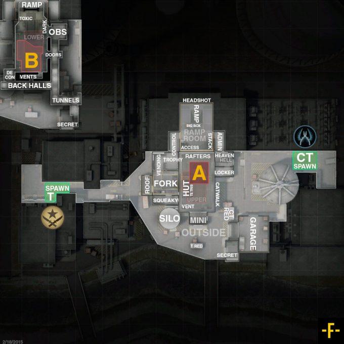 CSGO de_nuke map callouts