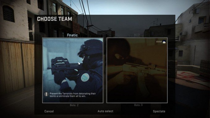 CS:GO Custom team name