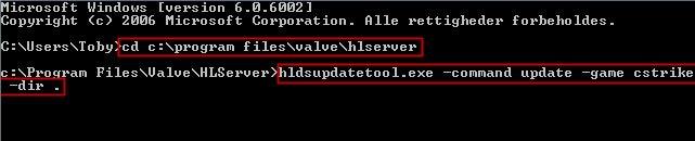 Dedicated Server CMD command