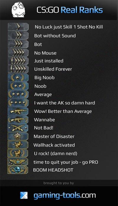 Funny - Real CS:GO ranks
