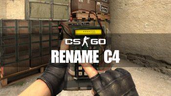 How To Rename the Bomb (C4 explosive)